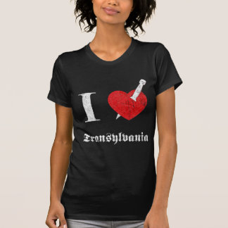 I love Transylvania (white eroded Font) Shirt