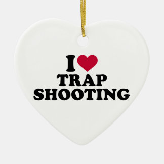 I love trap shooting ceramic heart decoration