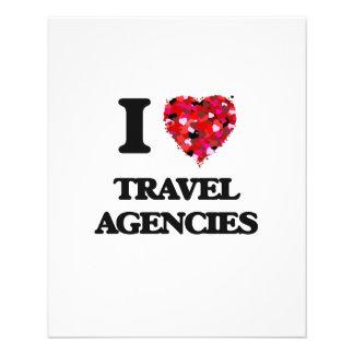 I love Travel Agencies 11.5 Cm X 14 Cm Flyer