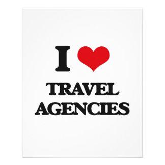 "I love Travel Agencies 4.5"" X 5.6"" Flyer"
