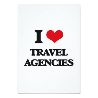 "I love Travel Agencies 3.5"" X 5"" Invitation Card"