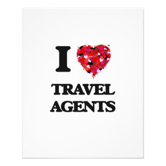 """I love Travel Agents 4.5"""" X 5.6"""" Flyer"""