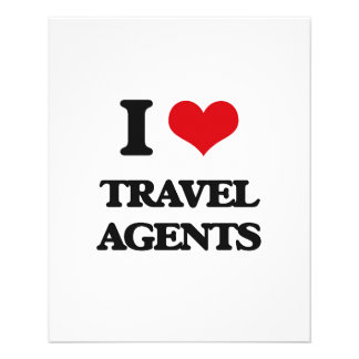 I love Travel Agents Custom Flyer
