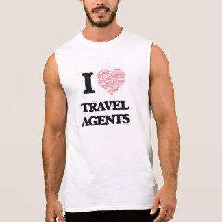 I love Travel Agents (Heart made from words) Sleeveless T-shirt