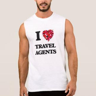 I love Travel Agents Sleeveless Tees