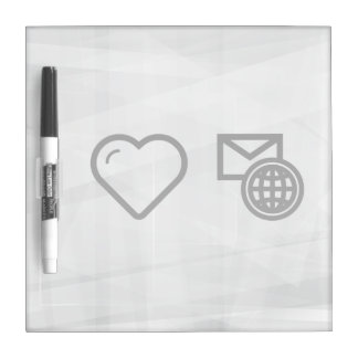 I Love Travelling Abroads Dry-Erase Whiteboard