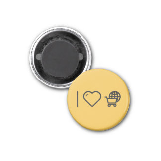 I Love Travelling Abroads 3 Cm Round Magnet