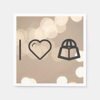 I Love Travelling Abroads Paper Napkin