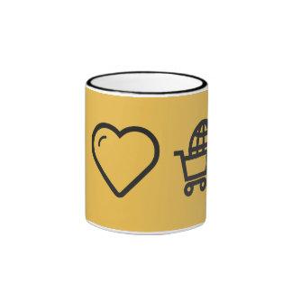I Love Travelling Abroads Ringer Mug
