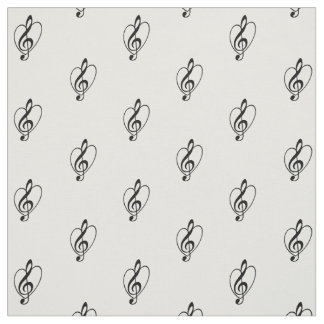 """I love Treble Clef"" Fabric"