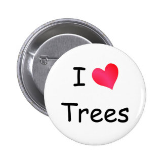 I Love Trees 6 Cm Round Badge