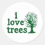 I Love Trees Sticker