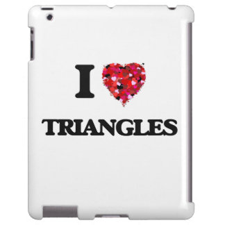 I love Triangles iPad Case