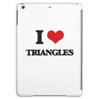 I love Triangles Cover For iPad Air