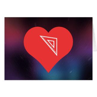 I Love Triangular Rulers Modern Greeting Card