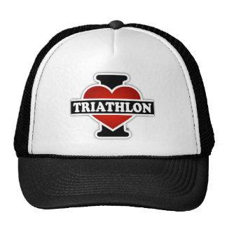 I Love Triathlon Cap