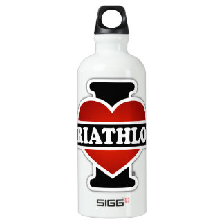I Love Triathlon Water Bottle
