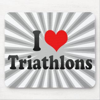 I love Triathlons Mousepad