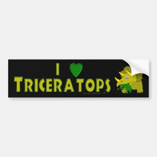 I Love Triceratops Dinosaur Lovers Cute Cartoon Bumper Sticker