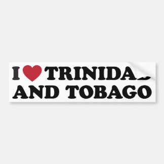 I Love Trinidad and Tobago Bumper Sticker