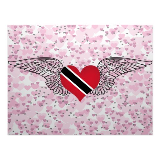 I Love Trinidad and Tobago -wings Post Cards