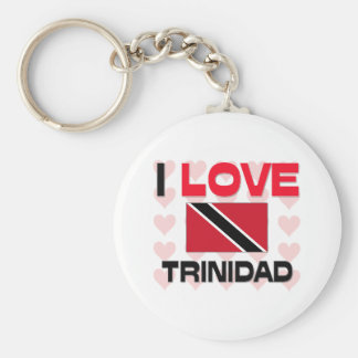 I Love Trinidad Basic Round Button Key Ring