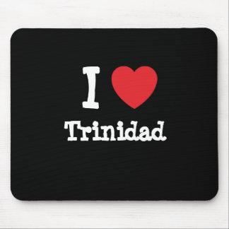 I love Trinidad heart custom personalized Mouse Pad