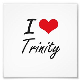 I Love Trinity artistic design Photo Art