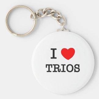 I Love Trios Keychains