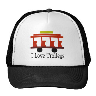I Love Trolleys Cap