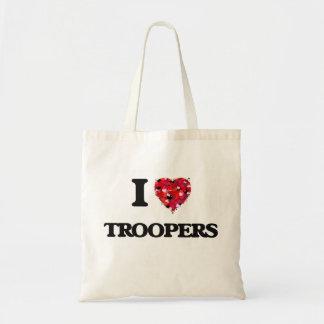 I love Troopers Budget Tote Bag