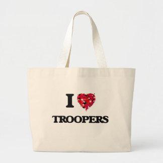 I love Troopers Jumbo Tote Bag