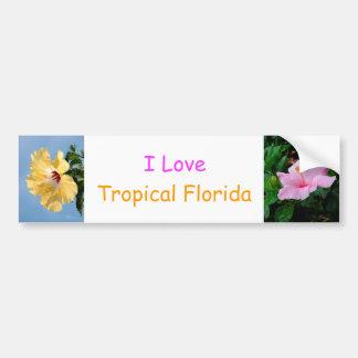 I Love Tropical Florida Bumper Sticker
