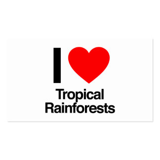 i love tropical rainforests business card templates