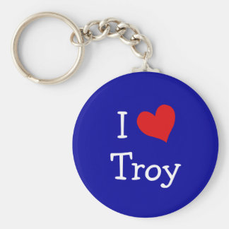 I Love Troy Key Ring