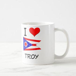 I Love Troy Ohio Basic White Mug