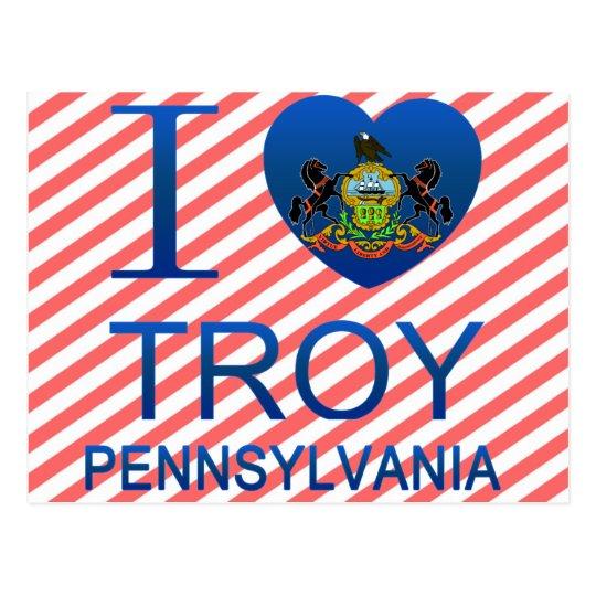 I Love Troy, PA Postcard