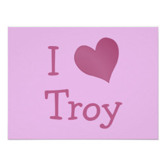 I Love Troy Poster