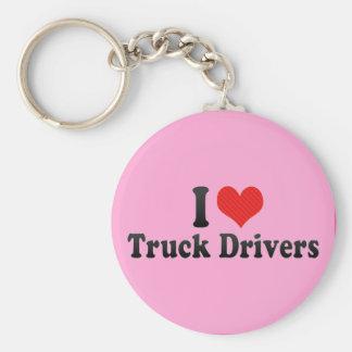I Love Truck Drivers Keychains