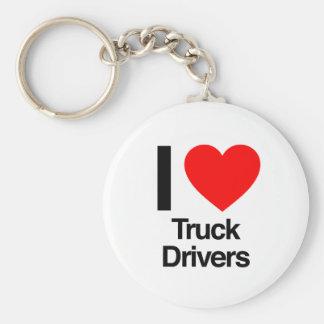 i love truck drivers key chains