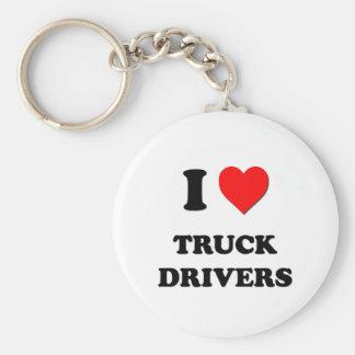I love Truck Drivers Keychain