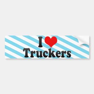 I Love Truckers Bumper Sticker