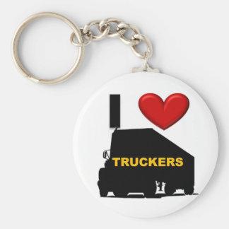 I Love Truckers Keychains