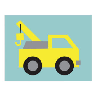 I love Trucks, Cute Yellow Vehicle for kids Postcard