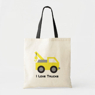I love Trucks, Cute Yellow Vehicle for kids Tote Bag