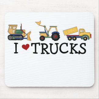 I Love Trucks Mouse Mat
