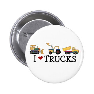 I Love Trucks T-shirts and Gifts 6 Cm Round Badge