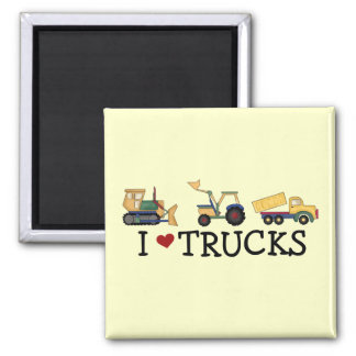 I Love Trucks T-shirts and Gifts Magnet