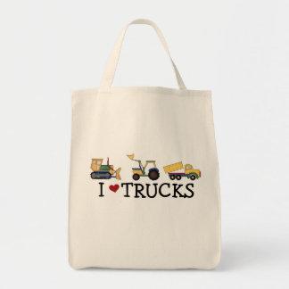 I Love Trucks T-shirts and Gifts Tote Bag