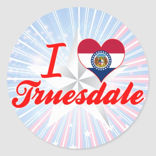 I Love Truesdale, Missouri Stickers